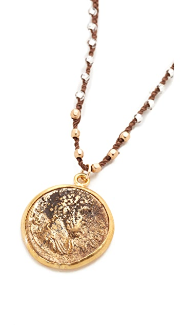 Native Gem Roman Fortuna Coin Necklace