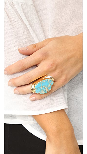 Native Gem Turquoise Cigar Ring