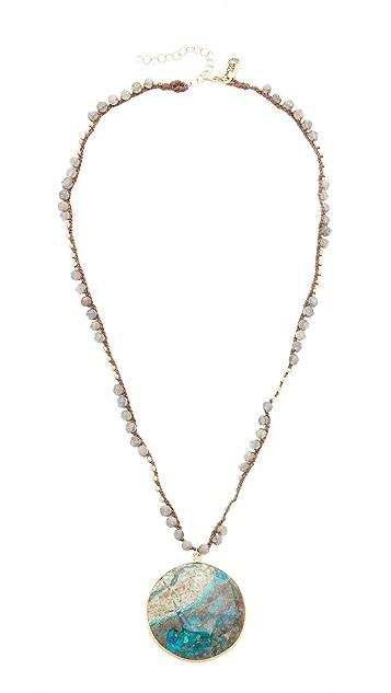 Native Gem Chrysocolla Short Necklace