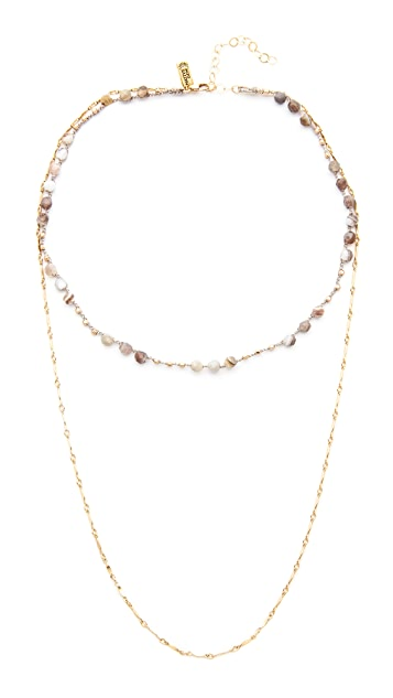 Native Gem Waverly Drape Necklace