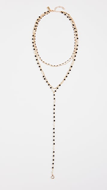 Native Gem Palmier Necklace with Cultured Freshwater Pearls