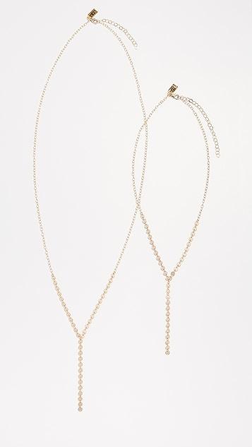Native Gem Zipper Necklace Set