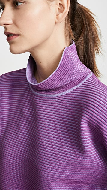 NAGNATA Cropped Rib Sweater