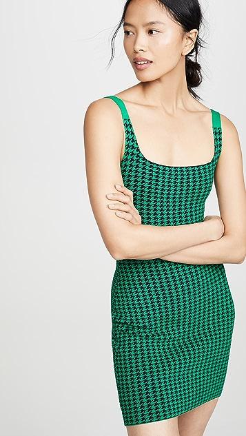 NAGNATA Платье с рисунком «гусиные лапки»