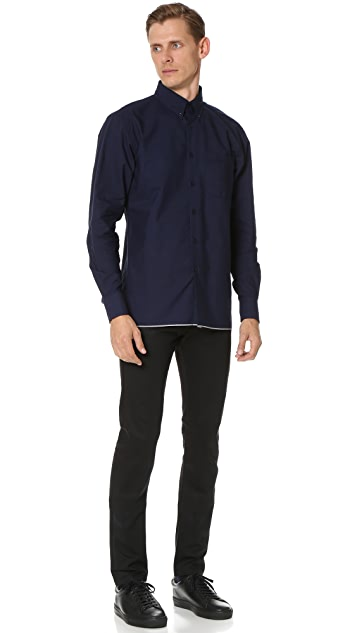 Naked & Famous Indigo Button Down Shirt