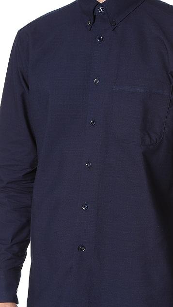 Naked & Famous Indigo Button Down Shirt