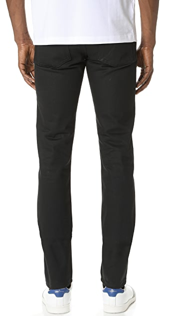Naked & Famous Super Skinny Guy Solid Black Selvedge Jeans