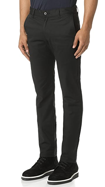 Naked & Famous Slim Chino - Black Stretch Twill Pants