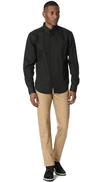 Naked & Famous Long Sleeve Button Down Shirt