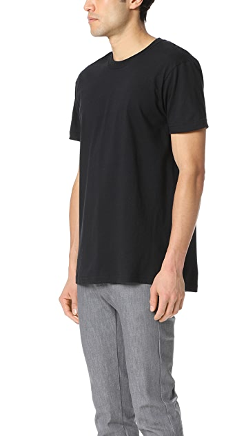 Naked & Famous Circular Knit T Shit - Black Tee