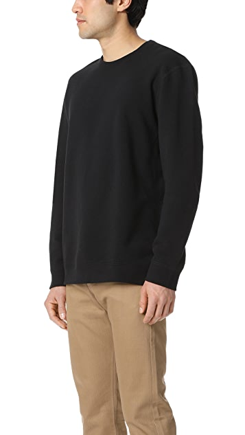 Naked & Famous Slim Crew - French Terry Black Sweatshirt