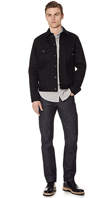 Naked & Famous Denim Jacket - Solid Black Selvedge