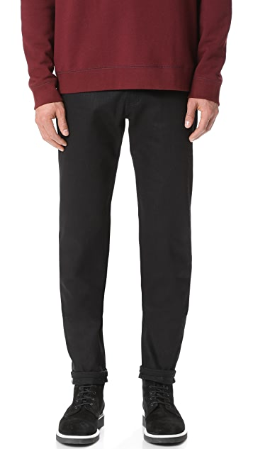 Naked & Famous Easy Guy - Solid Black Selvedge Jeans