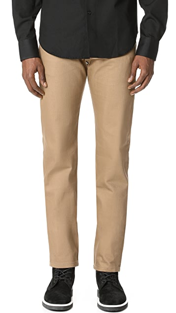 Naked & Famous Weird Guy - Beige Selvedge Chino Jeans