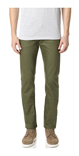 Naked & Famous - Weird Guy - Khaki Green Selvedge Chino Jeans