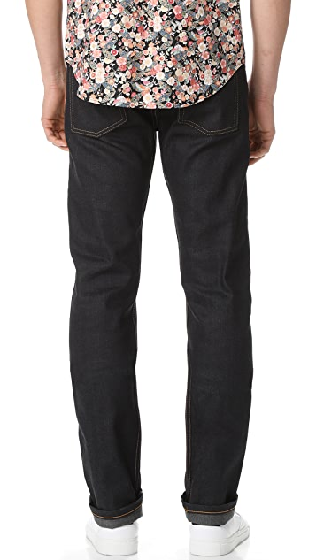 Naked & Famous Weird Guy - Deep Indigo Stretch Selvedge Jeans