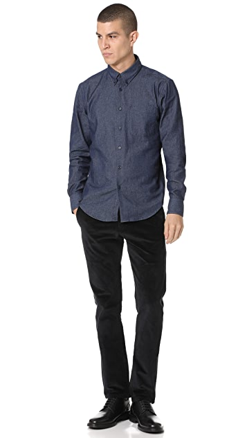 Naked & Famous 5.5 Oz Denim Long Sleeve Shirt