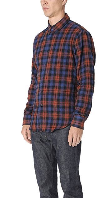 Naked & Famous Flannel Long Sleeve Shirt