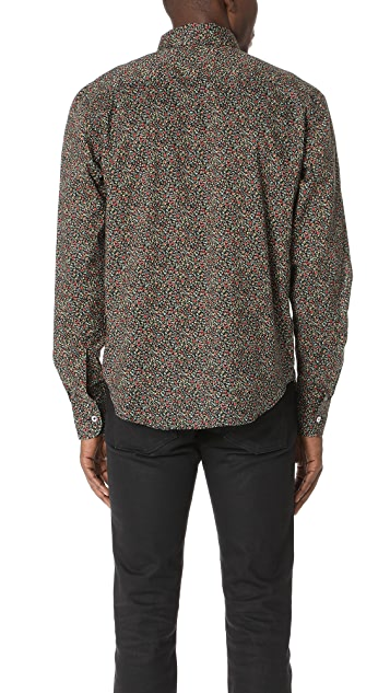 Naked & Famous Matte Flowers Long Sleeve Shirt