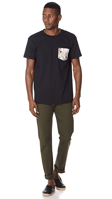 Naked & Famous Botanical Pocket T-Shirt