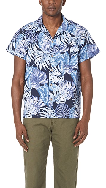 Naked & Famous Tropical Leaves Shirt
