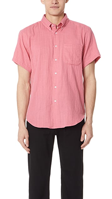 Naked & Famous Gauze Short Sleeve Shirt