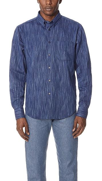 Naked & Famous Tie Dye Rain Weave Shirt