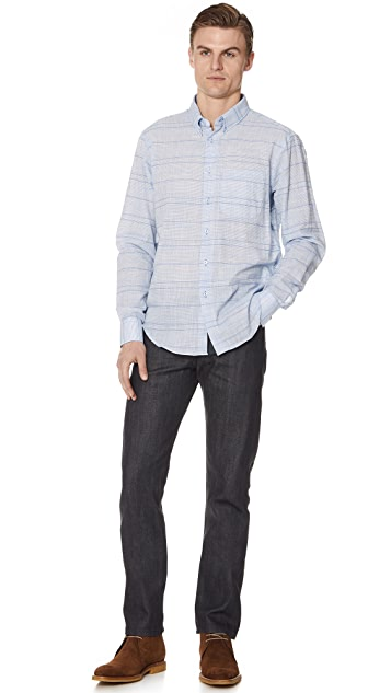 Naked & Famous Regular Stripe Shirt