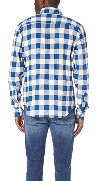 Naked & Famous Buffalo Check Button Up Shirt