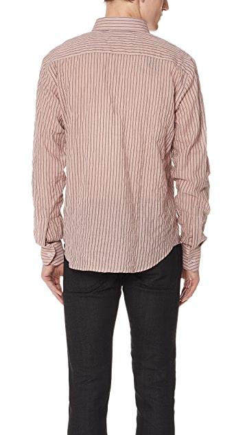 Naked & Famous Striped Summer Button Up Shirt