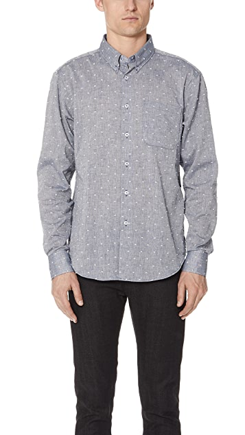 Naked & Famous Dobby Button Up Shirt