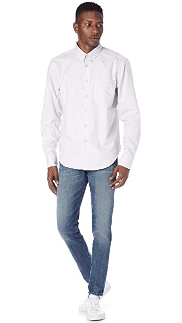 Naked & Famous Flower Dyed Oxford Shirt