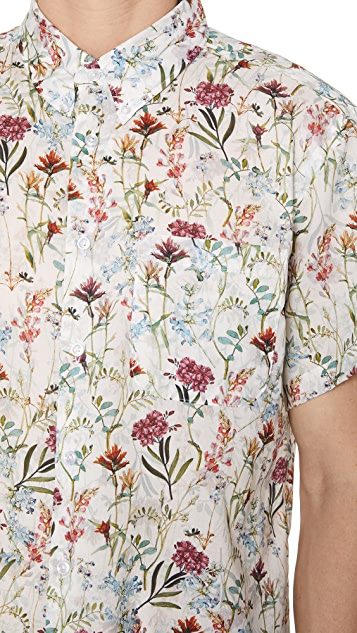 Naked & Famous Antique Botanical Shirt