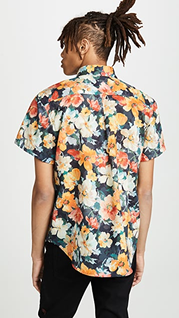Naked & Famous Easy Shirt - Flowers Painting