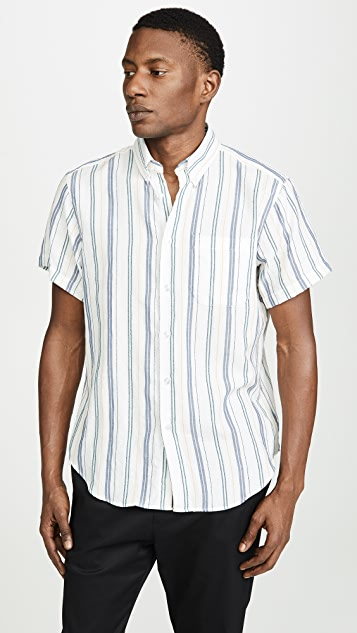 Naked & Famous Boucle Stripe Easy Shirt
