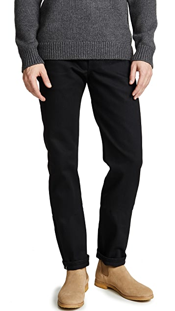 Naked & Famous Weird Guy - Solid Black Selvedge Jeans
