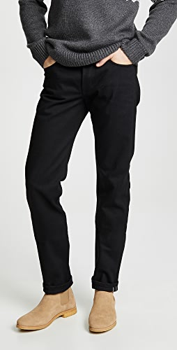 Naked & Famous - Weird Guy - Solid Black Selvedge Jeans