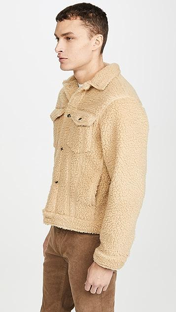 Naked & Famous Coffee Fleece Denim Jacket