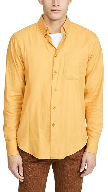 Naked & Famous Easy Shirt In Honey Flannel