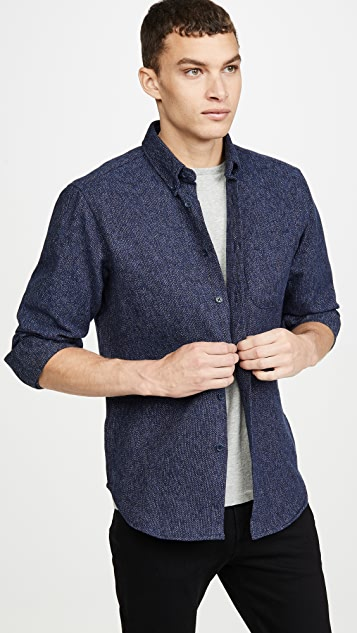Naked & Famous Easy Shirt In Cotton Tweed