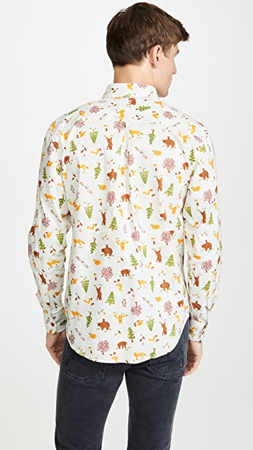 Naked & Famous Easy Shirt In Creature Print