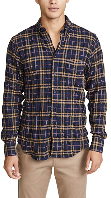 Naked & Famous Easy Shirt In Folk Flannel