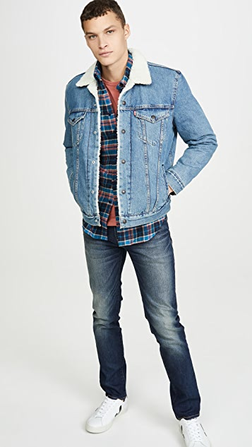 Naked & Famous Easy Shirt In Rustic Nep Flannel