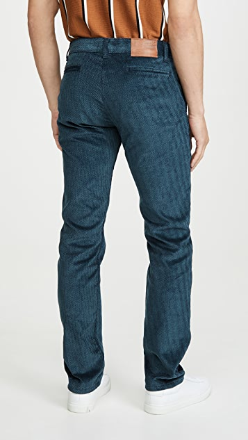 Naked & Famous Tapered Chino In Heavy Velvet Twill