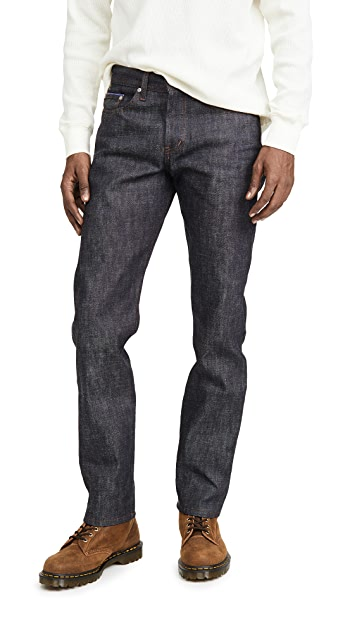 Naked & Famous Blue Selvedge Weird Guy Jeans