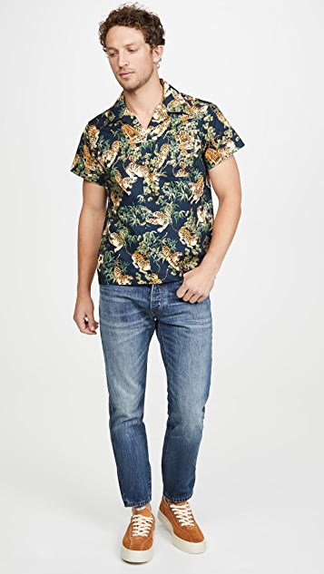 Naked & Famous Japanese Tigers Aloha Shirt
