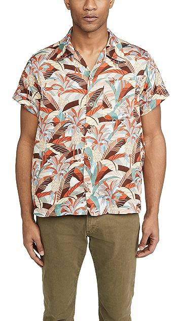 Naked & Famous Jungle Vacation Aloha Shirt