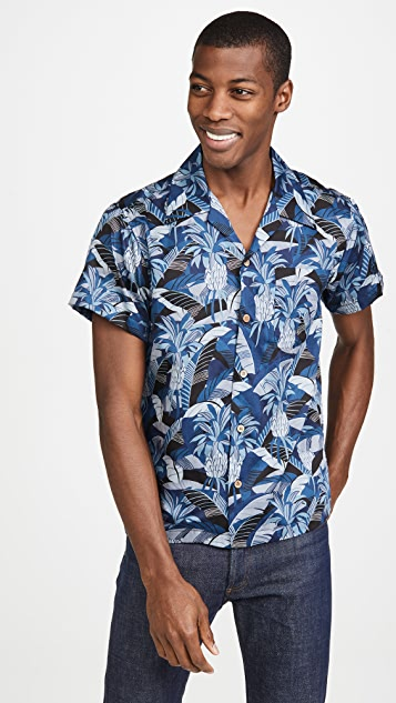 Naked & Famous Jungle Vacation Aloha Shirt