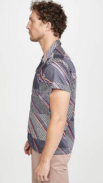 Naked & Famous Retro Wave Aloha Shirt
