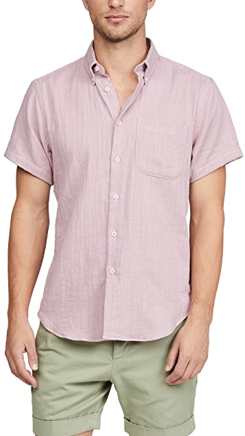 Naked & Famous Double Weave Gauze Short Sleeve Easy Shirt